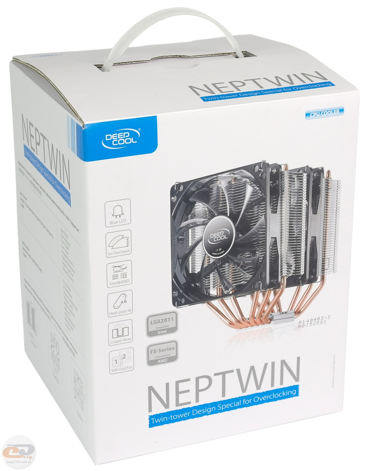 Кулер Deepcool Neptwin V2 Black DP-MCH6-NT (Intel 2011/1366/1156/1155/1151/1150/775/AMD FM2/FM1/AM3+/AM3/AM2+/AM2)