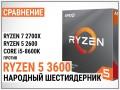 Сравнение AMD Ryzen 5 3600 с Ryzen 5 2600, Ryzen 7 2700X и Core i5-8600K: народный шестиядерник