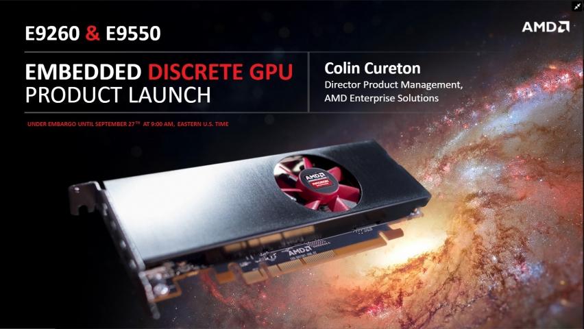 AMD Embedded Radeon E9260 E9550