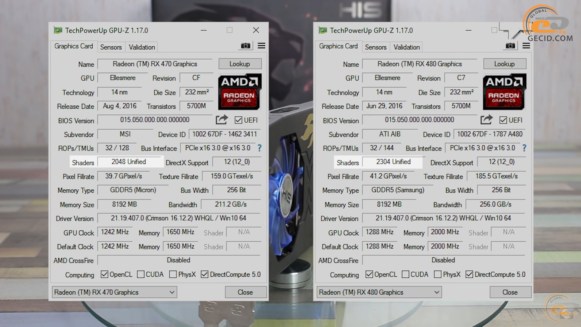 GECID com IT-portal: AMD Radeon RX 480 vs RX 470