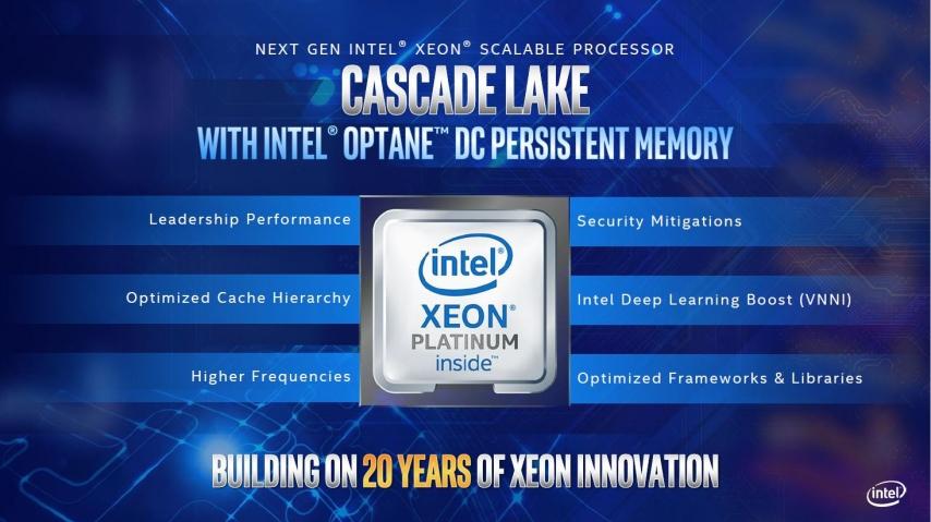 Intel Cascade Lake advanced performance 2