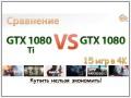 Сравнение GeForce GTX 1080 Ti vs GeForce GTX 1080 в 15 играх при 4K